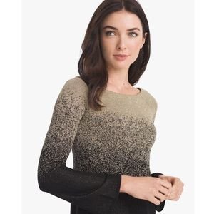 Tops - WHBM long sleeve black silver blouse size small